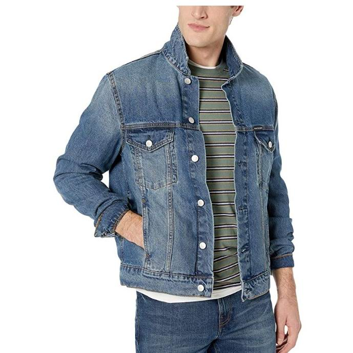 Calvin Klein Slim Fit 男士牛仔夹克 28.72加元(S码),原价 96.21加元