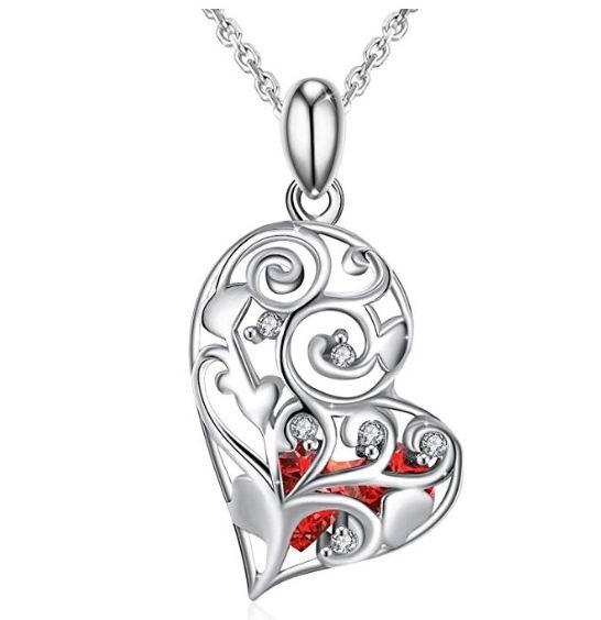"""J.Rosée女士""""跳动的心""""纯银项链 15.99加元,原价 30.99加元"""