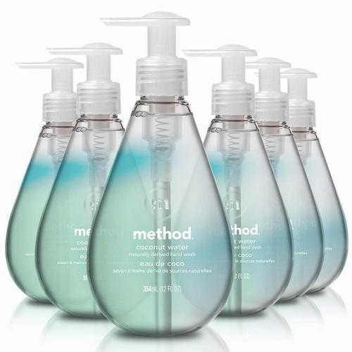 美国超人气天然清洁品牌!Method温和清洁洗手液6瓶 19.89加元(2种味道),原价 26.99加元