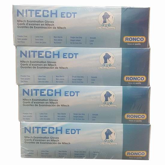 Ronco Nitech 小号检查手套(100x4盒)13.18加元!