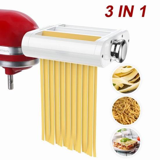 ANTREE KitchenAid 厨师机专用 三合一面条/压面切面器配件 98.18加元限量特卖并包邮!