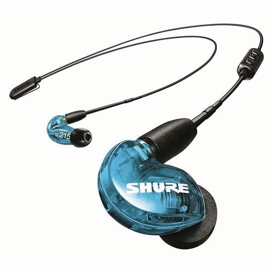 历史最低价!Shure 舒尔 SE215 入耳式 无线蓝牙隔音耳机5.4折 109加元包邮!4色可选!