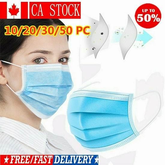 手慢无!加拿大现货!多款一次性防护口罩8.99加元起+包邮!