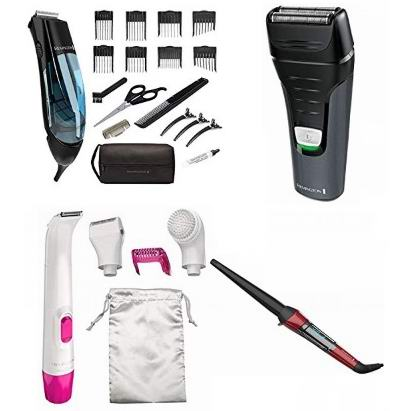 金盒头条:精选多款 Remingtion 电动剃须刀、理发器、女式美体刀、胡须造型器、卷发棒、身体清洁刷、洗脸刷等6.5折起!