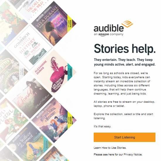 亚马逊大爱!Audible向全球儿童免费开放6种语言有声书!