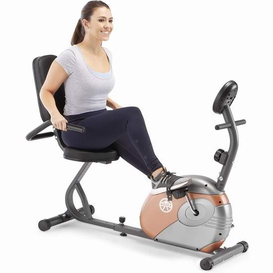 近史低价!Marcy ME-709 卧式健身自行车6.2折 162.48加元包邮!