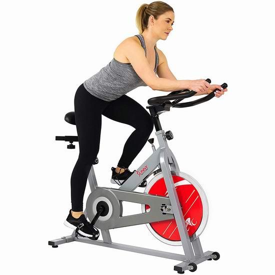 Sunny Health & Fitness SF-B1001S 家用静音健身自行车6.1折 236.89加元包邮!