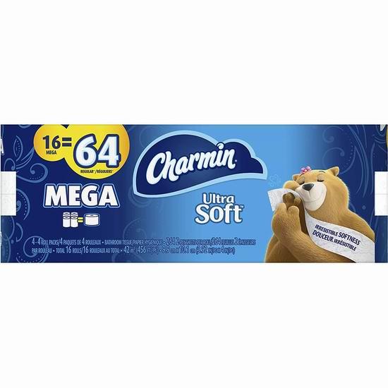 Charmin Ultra Soft 超软双层卫生纸16卷装 25.19加元!