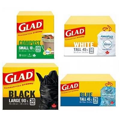 精选 Glad 等品牌厨房垃圾、生活垃圾等各种垃圾袋1.12加元!
