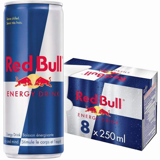 Red Bull 红牛能量饮料8罐×250毫升 13.97加元!