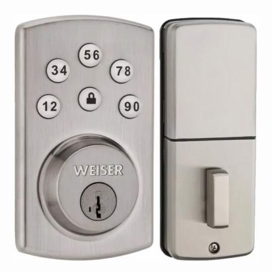 Weiser Powerbolt 2.0 SmartKey 电子密码门锁 90加元包邮!