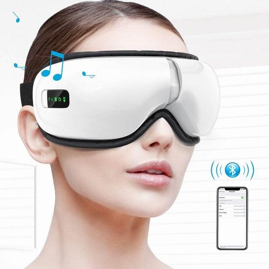 HOMIEE 便携式智能眼部按摩仪 67.99加元特卖并包邮!舒缓眼部疲劳、提升睡眠品质!