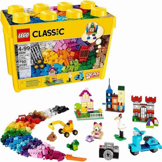 LEGO 乐高 10698 大型创意积木盒(790pcs)49.99加元包邮!
