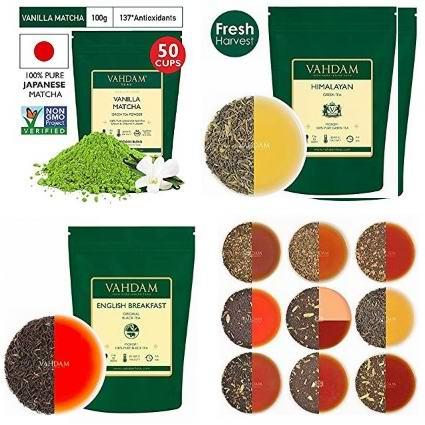 金盒头条:精选多款 Vahdam 绿茶、红茶、凉茶、茶包、抹茶粉6折起!