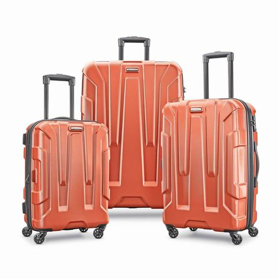 历史最低价!Samsonite 新秀丽 Centric 20/24/28寸 全PC超轻 拉杆行李箱3件套3.6折 252.02加元包邮!