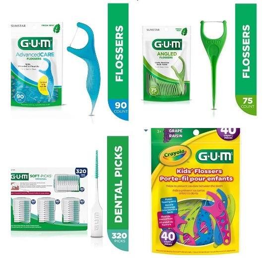 精选 GUM牙线、牙膏、牙刷 3.57加元起特卖!