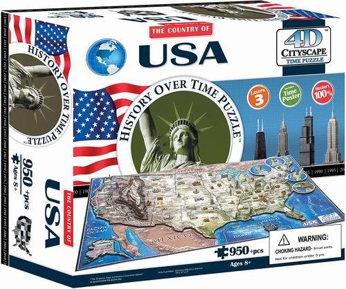 4D Cityscape USA 美国历史时间拼图 53加元+包邮