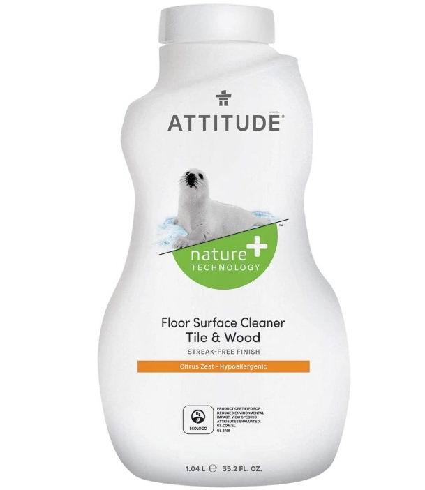 ATTITUDE Nature + 防过敏地板表面清洁剂 3.99加元,原价 4.99加元