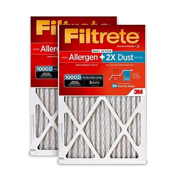 金盒头条:精选 3M Filtrete 家庭空调暖气炉过滤网6.1折起!3M旗下产品!