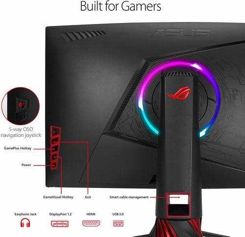历史最低价!Asus ROG Strix XG32VQ 31.5英寸曲面游戏显示器 569.99加元,bestbuy同款价 822.98加元