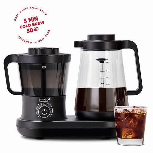 Dash 快速冷冲咖啡机 5分钟快速冲泡 5.8折 90.6加元,原价 156.3加元,包邮
