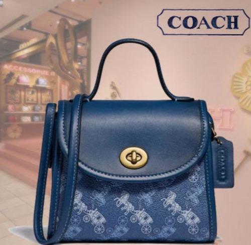 新款 Coach 复古马车logo小斜包 262.5加元(2色),原价 375加元,包邮