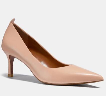 Coach Waverly 高跟鞋 3折 67.5加元(2色),原价 225加元,包邮