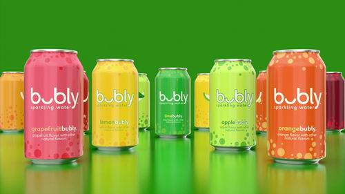 Bubly Sparkling Water水果味气泡水 12×335毫升 4.06加元!