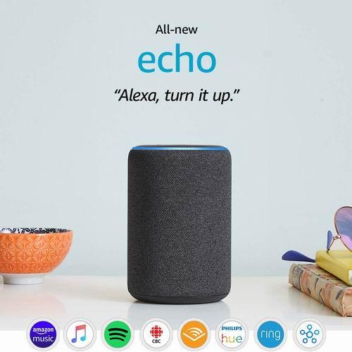 历史最低价!新品亚马逊 Echo 第三代智能音箱6.2折 79.99加元包邮!