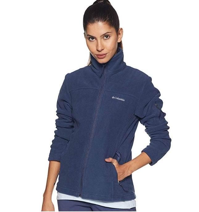 Columbia Fast Trek II 女士抓绒拉链衫 26.42加元(XL码),原价 69.99加元