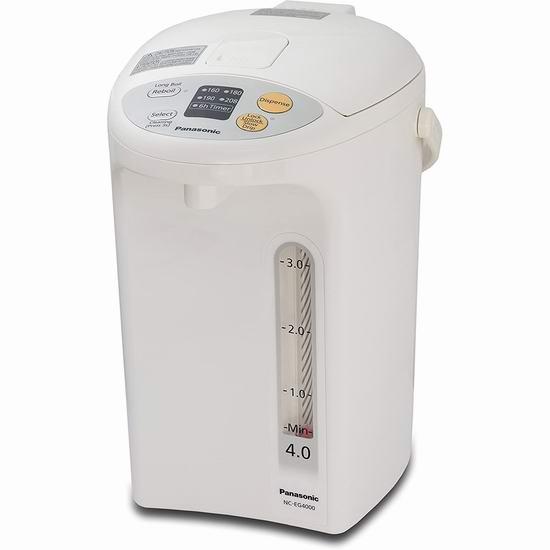 历史最低价!Panasonic 松下 NCEG4000 4升 电热水壶 129.98加元包邮!