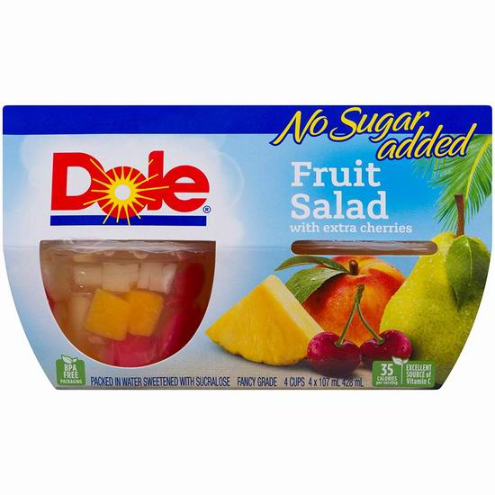 Dole 纯天然果肉 水果杯(4杯)2加元!多款可选!