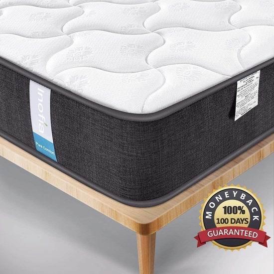 售价大降!历史新低!Inofia 9英寸 混合层舒适海绵+独立弹簧 Queen 床垫 139.9加元清仓并包邮!