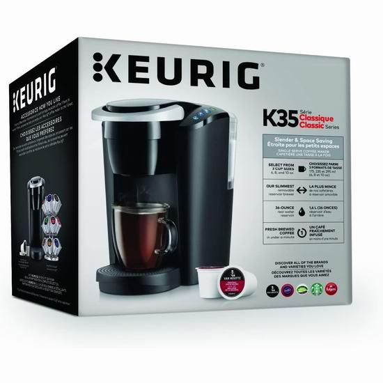 Keurig K-Compact K35 紧凑型胶囊咖啡机5.8折 58加元包邮!