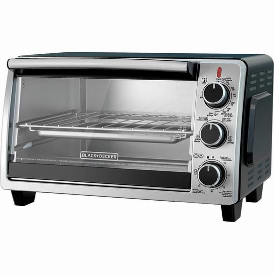 BLACK+DECKER TO1950SBD 6-Slice 热空气对流 电烤箱5折 49.99加元包邮!