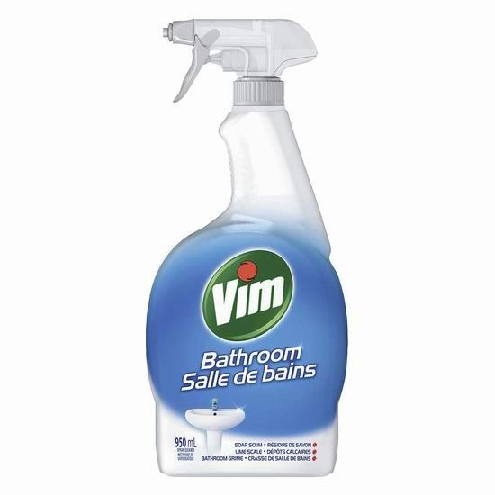 Vim Bathroom 浴室清洁喷雾(950ml) 2.49加元!