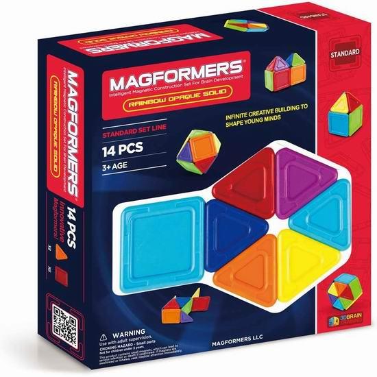 Magformers 65010 益智磁力积木14件套3.9折 12.76加元!