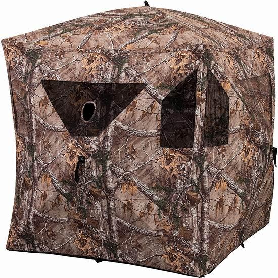 历史新低!Ameristep 1MC3H100FR 多用途 户外打猎/摄影/观鸟 迷彩狩猎帐篷5.9折 119.26加元包邮!