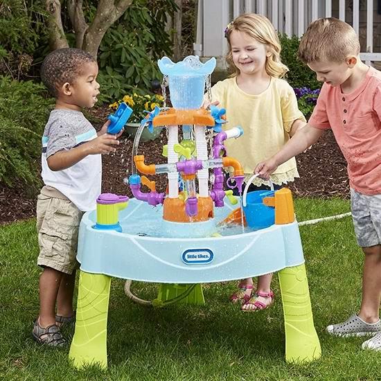 历史新低!Little Tikes 小泰克 Flowin Fun 儿童戏水桌 63.95加元包邮!