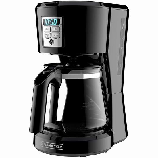 Black Decker 12杯咖啡机 7.9折 44.98加元,原价 57.28加元,包邮