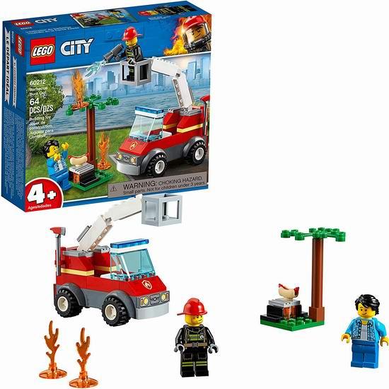 历史新低!LEGO 乐高 60212 城市系列 烧烤失火救援(64pcs)6.4折 9加元!