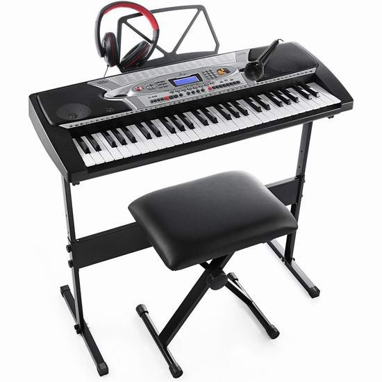 近史低价!Joy K-02 电子互动教学 54键电子琴+琴凳+耳机套装 132.01加元包邮!