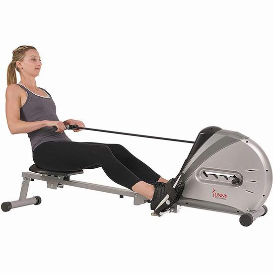 Sunny Health & Fitness SF-RW5606 家用磁阻划船机/划艇机 187.89加元包邮!
