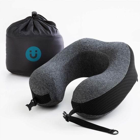 白菜价!历史新低!Bedsure 舒适U型 记忆海绵护颈枕3.4折 8加元清仓!2个包邮!