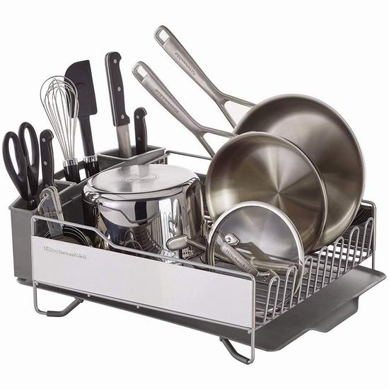 历史新低!KitchenAid KNS896BXGRA 全尺寸 餐具沥水篮 63.97加元包邮!