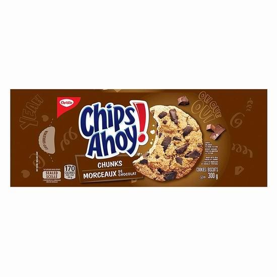 Chips Ahoy! 趣多多 Chunks 巧克力味曲奇饼干(300克)1.88加元!2款可选!