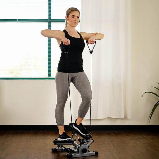 塑造完美身材!Sunny Health & Fitness NO. 045 家用扭腰踏步机 87.87加元包邮!