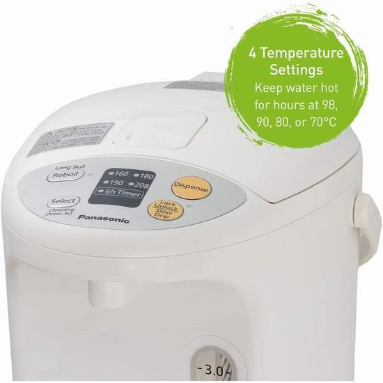 历史最低价!Panasonic 松下 NCEG4000 4升 电热水壶 7.6折 129.99加元包邮!
