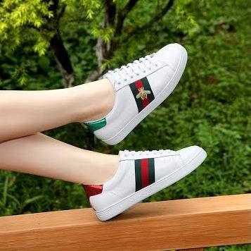明星同款!Gucci New Ace女士经典蜜蜂小白鞋 730加元包邮!