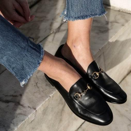 Gucci Jordaan女士乐福鞋 黑色款 765加元(37/37.5/41码),官网价 910加元 ,包邮